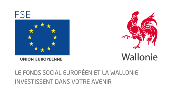 Logos FSE et Wallonie