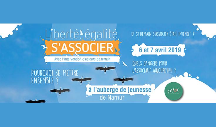 """Week-end Cefoc """"Liberté, égalité, s'associer"""""""