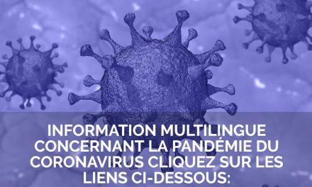 Information multilingue sur le coronavirus