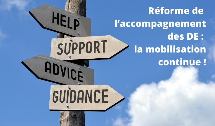 La réforme de l'accompagnement des demandeurs d'emploi: la mobilisation continue!