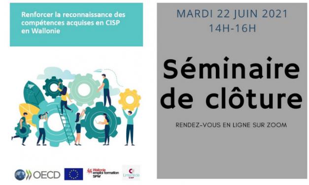 Renforcer la reconnaissance des compétences acquises en CISP – Conférence de Clôture