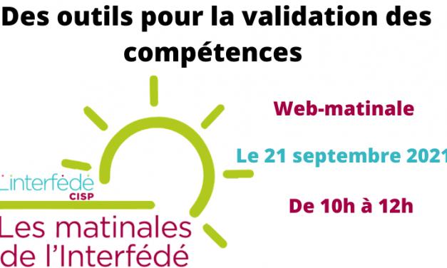Des outils pour la validation des compétences – Web-Matinale