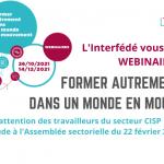 """Save the date : Webinaires """"Former autrement dans un monde en mouvement"""""""